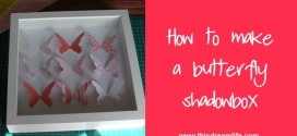 Making butterfly shadow boxes