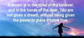 Manifesting a dream