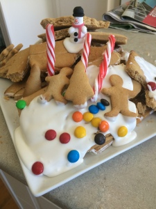 2014 11 29 Gingerbread house making (1)