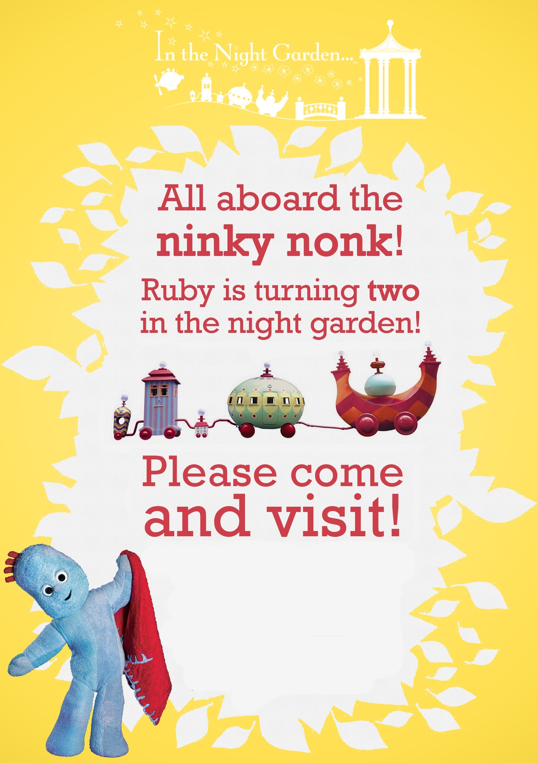 Rubys In the Night Garden Party – In the Night Garden Birthday Invitations